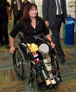 Tammy Duckworth arriving for her speech at University of South Florida Oct 12, 2010.