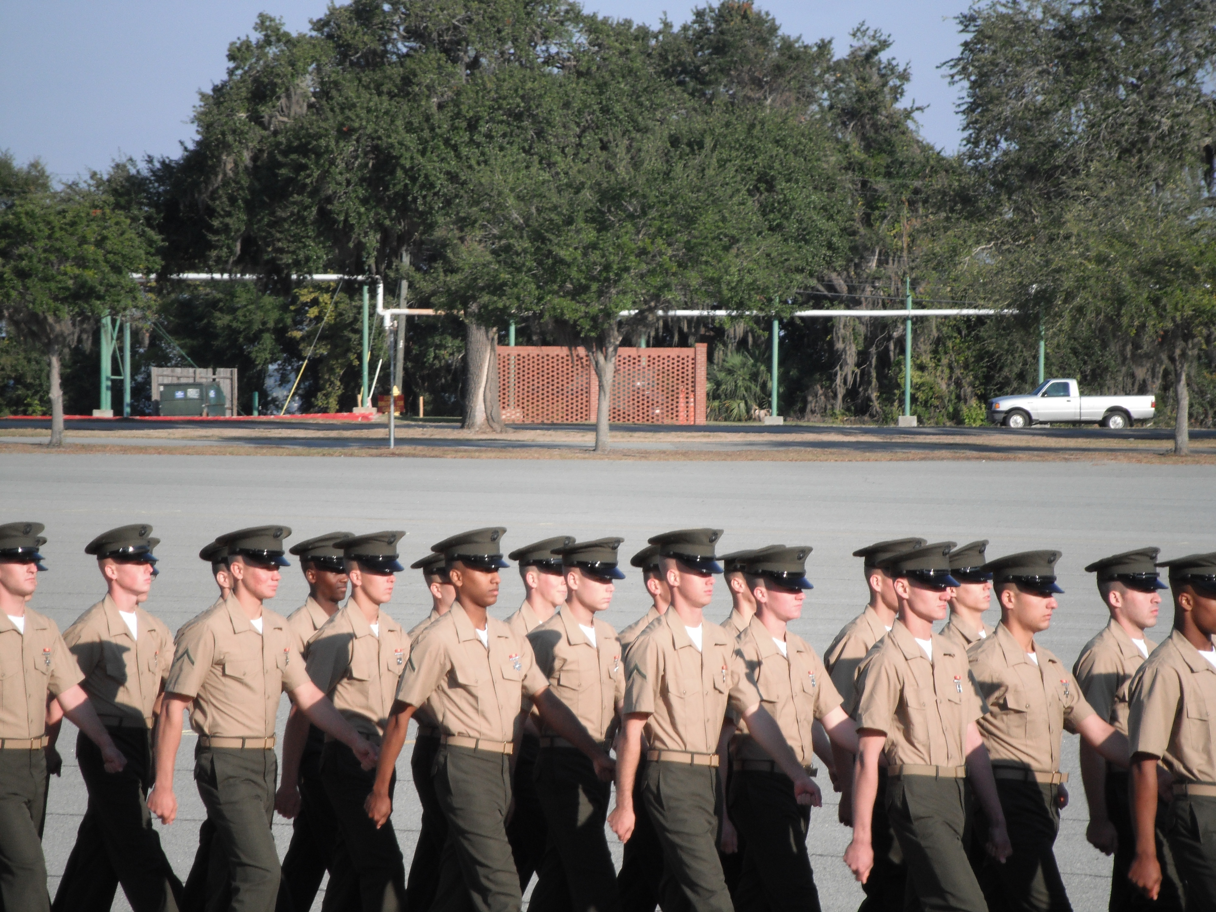 a marine mom �lets go� a week early off the base