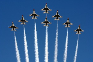 The USAF Thunderbirds. Photo courtesy of the Air Force website.