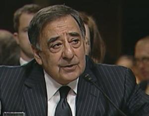 Leon E. Panetta appears before the Senate Armed Services Committee during confirmation hearings June 9, 2011. (Defense Department photo)