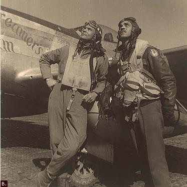 tuskegee airmen off the base tuskegee airmen