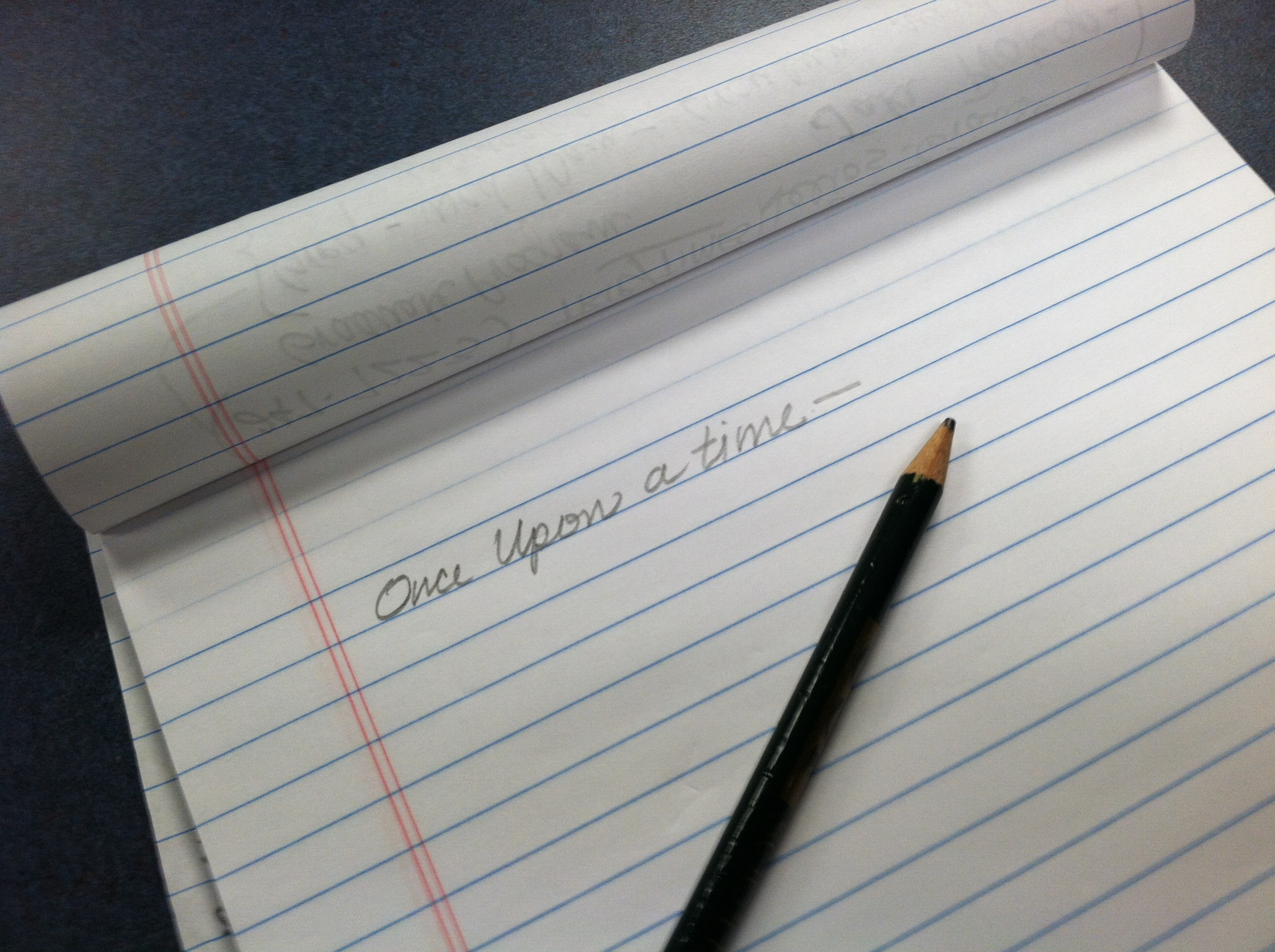 writing on paper with pencil