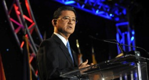 VA Secretary Eric Shinseki speaking at the suicide prevention conference. Photo courtesy of the VA blog.