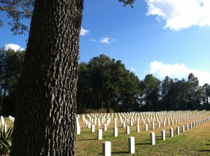 There are more than 100,000 gravesites at Florida National Cemetery in Bushnell.
