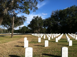 Florida National Cemetery at Bushnell. Photo Credit: Bobbie O'Brien/WUSF