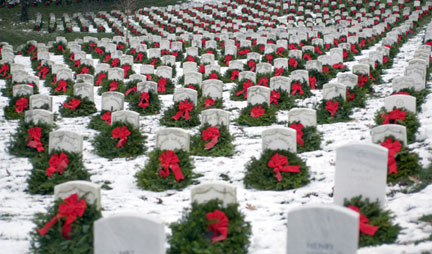 Wreaths Across America started in 1992 at Arlington National Cemetery. Six years ago this photo went viral and prompted expansion of the project to all national cemeteries.