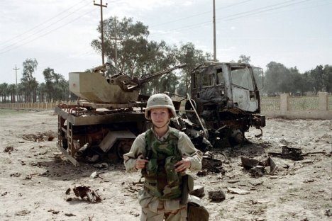 Author Maj. Jane Blair in Iraq. Photo credit JaneBlair.com