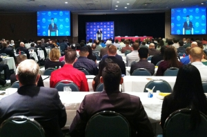 It was standing room only for VA Sec. Eric Shinseki's keynote address at the 2013 Student Veterans of America convention in Orlando last week.