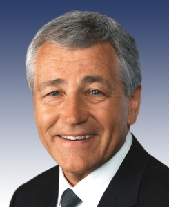 Former Sen. Chuck Hagel will lead the U.S. Dept. of Defense.