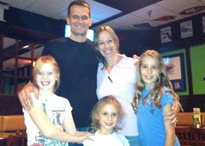 Erik and Jen Johanson and their three daughters, left to right: Freya, 9; Poppy, 5; and Ella, 11.