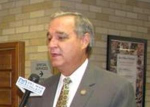 Florida Cong. Jeff Miller (R) being interviewed at a south Texas VA summit.