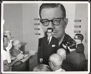 Fred Karl while campaigning for Florida governor in 1964. Photo courtesy of USF Library Special Collections.