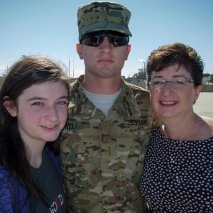 Dorie Griggs with her son and daughter during Family Day at Ft. Stewart. Photo by Stanley Leary.