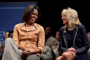 The First Lady and Dr. Biden attend a Joining Forces nurses event at the University of Pennsylvania in Philadelphia, Pennsylvania, April 11, 2012. Courtesy Joining Forces website.