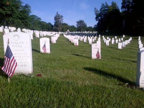 Arlington National Cemetery on Memorial Day 2013. Photo via Twitter VAAdaptiveSport