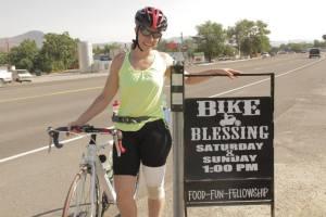 Kiersten Downs during a stop in Nevada.