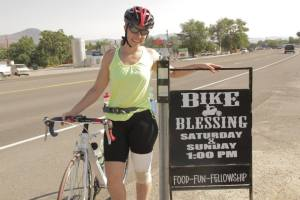 The first three weeks were the hardest as Kiersten climbed summits higher than 10,000 feet. CREDIT: BikingUSA.net