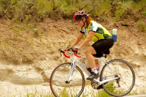Downs biking through Colorado said she's on pace to enter Washington D.C. August 5th. Credit: Biking USA.net