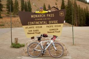 Monarch Pass was the highest mountain Downs climbed before heading down to the flat lands of Kansas. There she says the battle will be headwinds. Credit: Biking USA.net