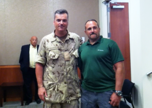 Col. Paul Keddy (L) and Rick Cicero (R).