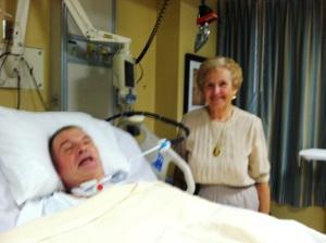 Navy veteran Harold Aubel and his mother, Anne Renee Aubel.