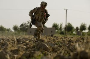 Justin Gaertner under fire from Taliban insurgents during his second deployment in Afghanistan. Photo courtesy of Justin Gaertner.