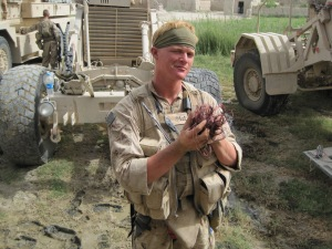 Justin Gaertner served as a combat engineer in Afghanistan where he searched for IEDs and the terrorists who made the improvised explosive devices.