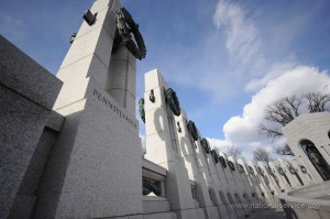 World War II Memorial in Washington D.C. Courtesy the National Parks.