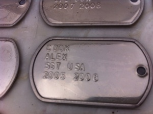 Alex's tag on the Iraq War Heroes monument.