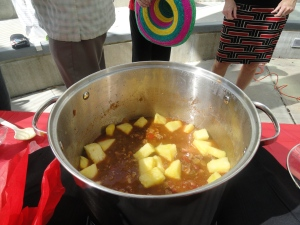 Pineapple was the surprise ingredient in the 2nd place chili presented by the USF Marshall Student Center staff.