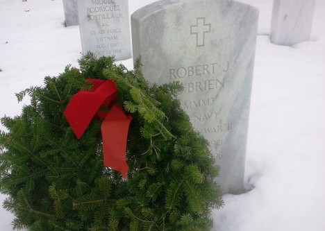 My father's grave at Dayton National Cemetery, December 2014.