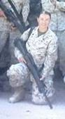 Kelly Matisi, a 9-year veteran of the Marine Corps, in Iraq.