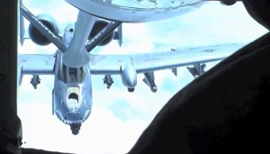 A look at the A-10 Warthog refueling from the boom operator's point of view.