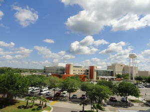 A view of James A. Haley VA Hospital from the entrance at the new Polytrauma Unit.