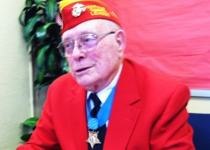 "Hershel ""Woody"" Williams said he is only the caretaker of the Medal of Honor, hanging around his neck, that it belongs to those who lost their lives protecting him on the Iwo Jima battlefield."