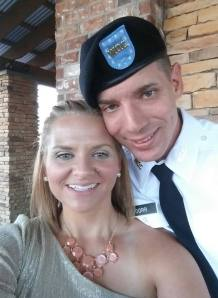 Jackie and Brian Dorr prior to his graduation as an Army Warrant Officer.