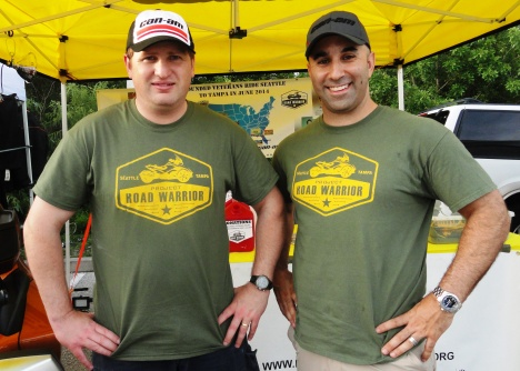 Air Force Academy graduates Steve Berger and Craig Anders co-founded the Project Road Warrior Ride.