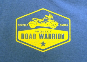 Selling the Project Road Warrior t-shirts was one way they funded the cross-country trip for eight members of the Care Coalition.