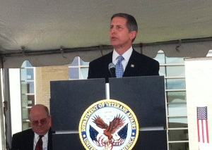 Deputy VA Secretary Sloan Gibson at the April opening of the new James A. Haley VA Polytrauma Center.