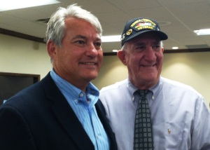 U.S. Rep. Ross with veteran Luis Canino afterward.