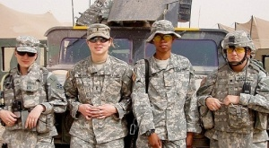 Female Veterans in Iraq. A New Resource for Female Vet on VA health care and benefits: 1-855-VA-WOMEN. Credit Department of Veterans Affairs