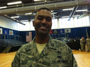 Air Force Capt. Darrell Rievs has served 26 years and been deployed numerous times, yet is ready to go again if needed.
