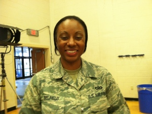 Tech Sgt. Tanika Belfield liked the personal nature of the president's speech.