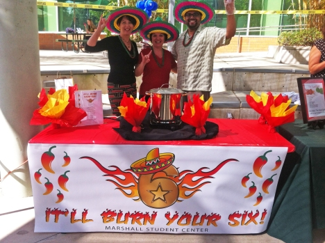 Naming the chili is half the fun of participating in 2013 Annual USF Office of Veterans Services Chili Cook-Off. Photo courtesy of OVS.