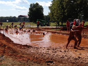 One several mud obstacles at the Mud Endeavor course in Brooksville, FL.
