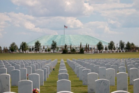 Patriot Plaza is integrated into the pastoral setting of the Sarasota National Cemetery.