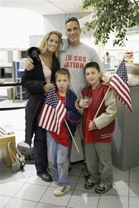 The Ruoco Family, Kim, John and their two sons, Billy and Joey. Courtesy of Kim Ruoco, TAPS.