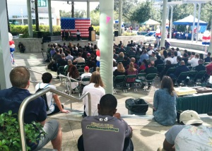 An estimated crowd of 200 helped celebrate Veterans Day on Tuesday at the University of South Florida.