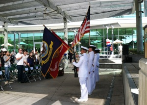 The Color Guard opened the Veterans Day Ceremony at USF sponsored by the Student Veterans Association and Office of Veterans Services.