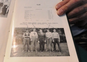 A high school yearbook photo of John Tedesco on the golf team when he was in eleventh grade. His health issues limited his ability to play sports with his children.